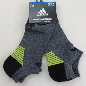 adidas Men's No Show Socks 2 Pack climalite Grey